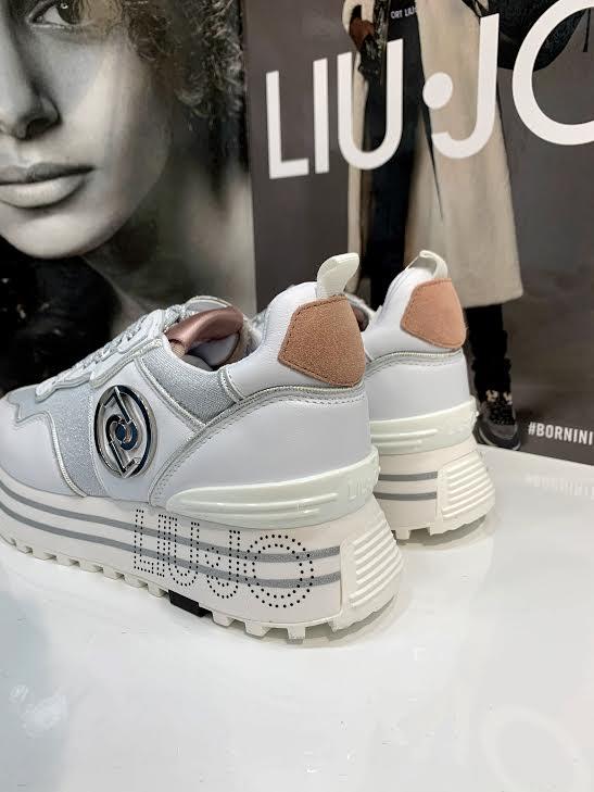 Liu Jo bele superge s srebrnimi detajli - Spletna prodaja Renini Shop