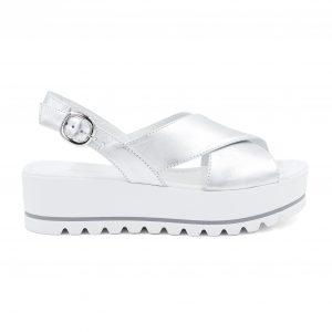 Nerogiardini srebrni sandali