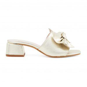 Renini zlati sandali s široko peto