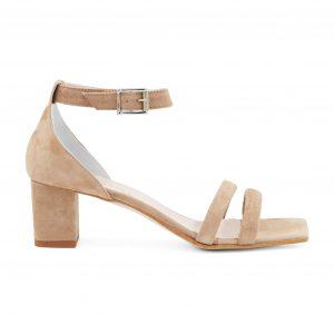 Renini usnjeni sandali s peto