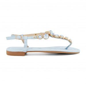 Modri sandali s kamenčki