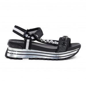 Liu jo črni sandali s kamenčki - Kolekcija pomlad-poletje 2021