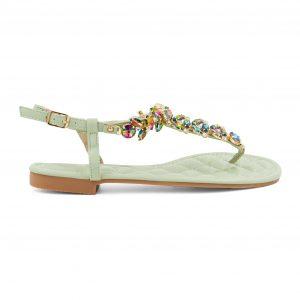 Zeleni sandali s kamenčki