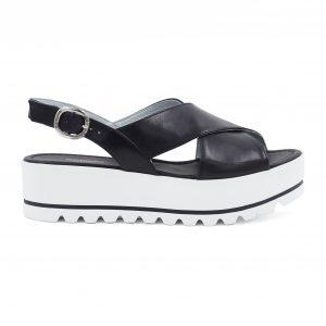 NeroGiardini črni sandali