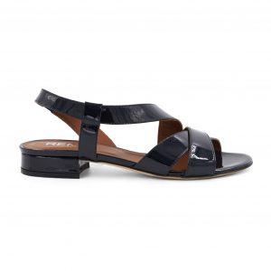 Renini usnjeni sandali v temno modri