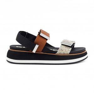 Gioseppo sandali s polno črno platformo
