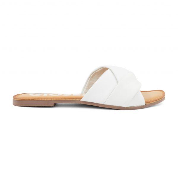Gioseppo beli usnjeni sandali