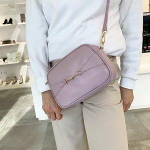 Usnjena roza torbica