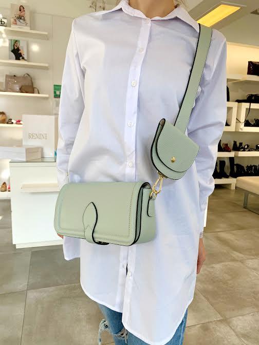 Zelena usnjena torbica