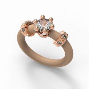 Ženski Prstan Le Corone, Mini- Bel, rose zlato