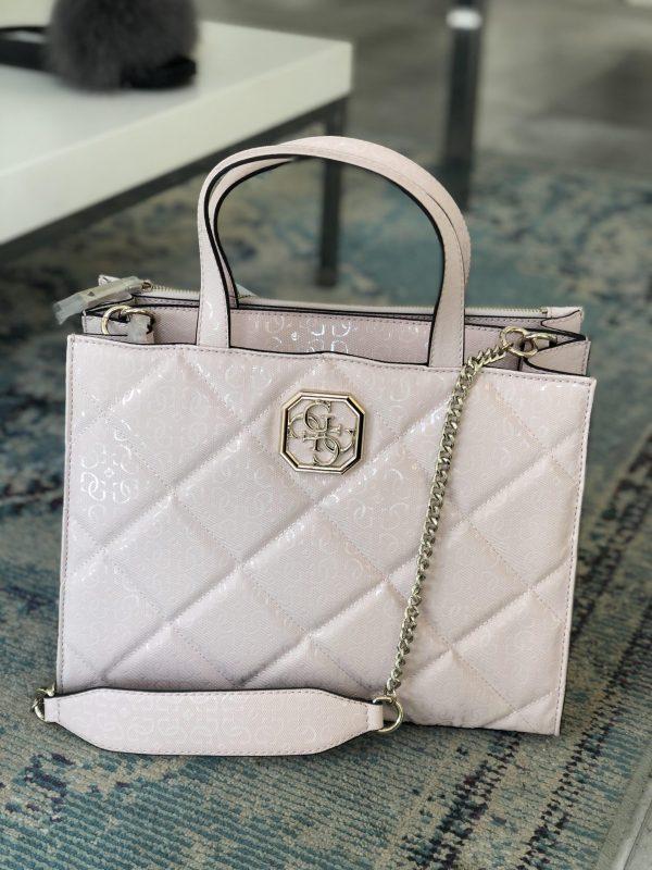 Guess roza prešita torba - Spletna prodaja renini-shop
