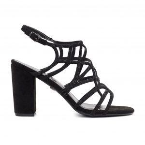 Kharisma črni sandali za peto