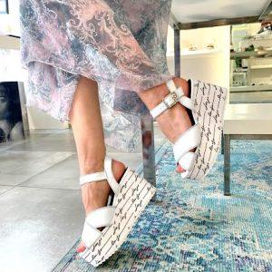 Liu Jo sandali v beli barvi