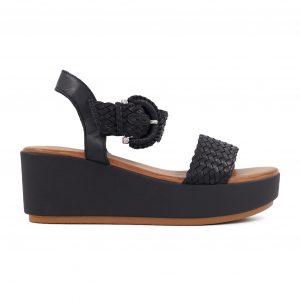 Inuovo usnjeni črni sandali