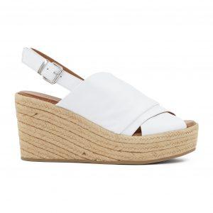 Inuovo višji usnjeni beli sandali