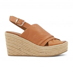Usnjeni sandali rjave barve
