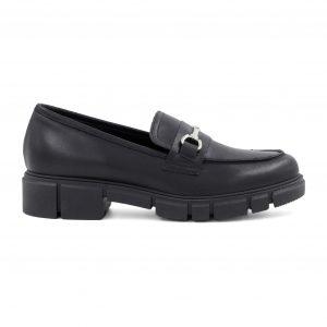 Oroscuro usnjeni črni čevlji