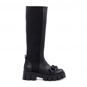 Lestrosa usnjeni škornji v črni barvi