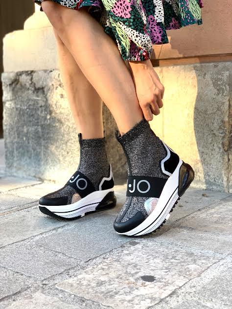 Liu Jo črno-srebrne superge - videz nogavice